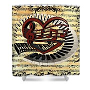 Love Of Music  Shower Curtain