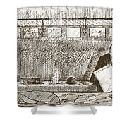 Love Of Travelling Alone, Illustration Shower Curtain