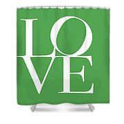 Love On Green Shower Curtain