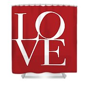 Love On Red Shower Curtain
