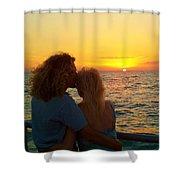 Love On The Beach Shower Curtain