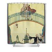 Love On The Bridge Shower Curtain