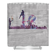 Love Over Paris Shower Curtain