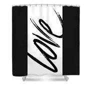 Love Panel Shower Curtain
