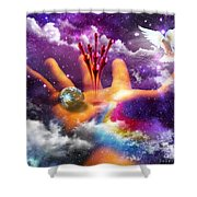 Love Poured Out Shower Curtain
