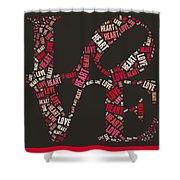 Love Quatro Heart - S111b Shower Curtain