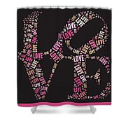 Love Quatro - S08a Shower Curtain by Variance Collections