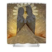 Love Romance Another World Happiness Pleasure Abundance Bounty Top Of The Mountain Cloud Nine Carele Shower Curtain