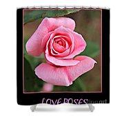 Love Roses Shower Curtain