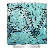 Love - S0301b01 Shower Curtain