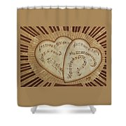 Love Song Of Our Hearts Shower Curtain