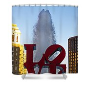 Love Statue In Philadelphia Pa Shower Curtain