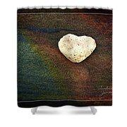 Love Stone - Framed Shower Curtain