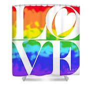 Love The Rainbow Shower Curtain