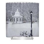 Love Through The Winter Shower Curtain