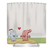 Love Thy Cocktail Shower Curtain by Gianfranco Weiss