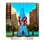 Love Town Shower Curtain