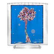 Love Tree Shower Curtain