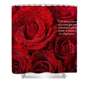Love Would Never Be A Promise Of A Rose Garden Shower Curtain