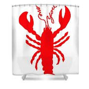 Love You Lobster With Feelers Shower Curtain