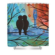 Lovebirds In P-town Shower Curtain