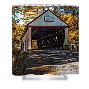 Lovejoy Covered Bridge Shower Curtain by Bob Orsillo