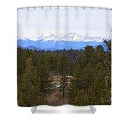 Lovell Gulch Hiking Trail Shower Curtain