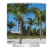 Lovely Beach On Key West East Side Shower Curtain