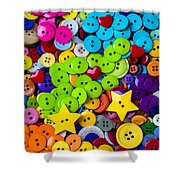 Lovely Buttons Shower Curtain