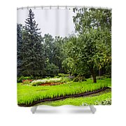 Lovely Garden In St. Petersburg - Russia Shower Curtain