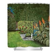 Lovely Green Shower Curtain by Anastasiya Malakhova