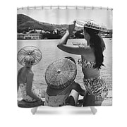 Lovely Ladies In Cha Cha Hats Shower Curtain