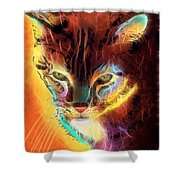 Lovely Lulu The Cat Shower Curtain