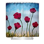 Lovely Poppies Shower Curtain