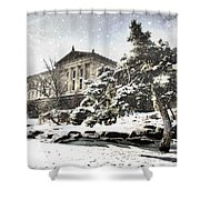 Lovely Snow On The Museum Shower Curtain