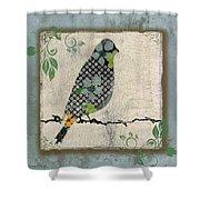 Lovely Song Bird-a Shower Curtain