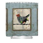 Lovely Song Bird Trio -1 Shower Curtain
