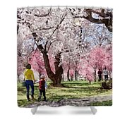 Lovely Spring Day For A Walk Shower Curtain