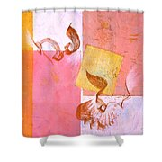 Lovers Dance 2 In Sienna And Pink  Shower Curtain