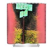Lovers Lane Shower Curtain