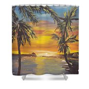 Lovers Lane Shower Curtain