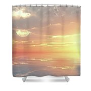 Lovers Ocean Shower Curtain