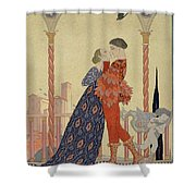 Lovers On A Balcony  Shower Curtain