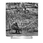 Lovers On Daffodil Hill Shower Curtain
