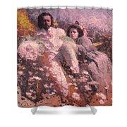 Lovers On The Beach Shower Curtain