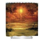 Lovers Sunset Shower Curtain