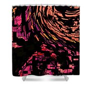 Lovers Swirling Shower Curtain
