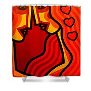 Lovers Vi Shower Curtain