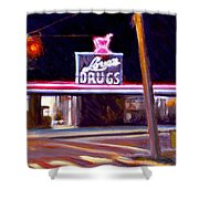 Love's Drugs Shower Curtain