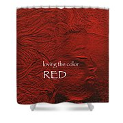 Loving The Color Red Group Avatar Shower Curtain